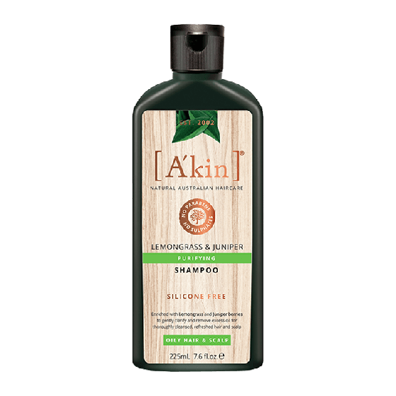 A'kin Lemongrass & Juniper Purifying Shampoo 225ml