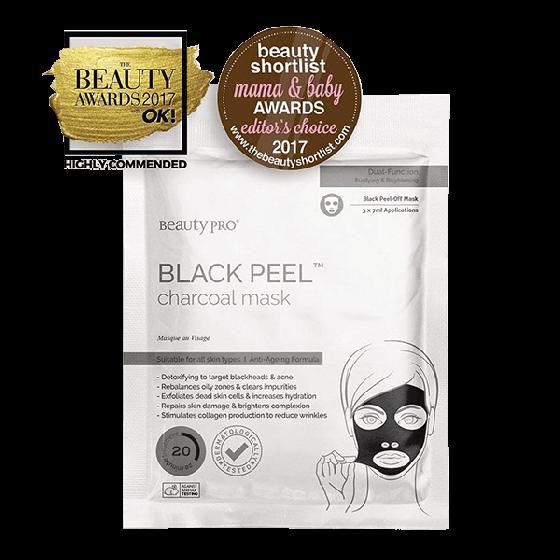 Beauty Pro Black Peel Charcoal Mask 3x7g
