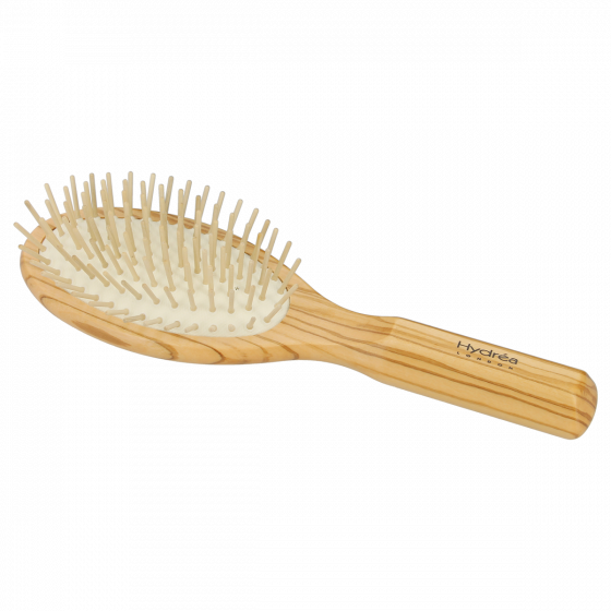 Hydrea Olive Wood Hair Brush With Extra Long Anti-Static Pins