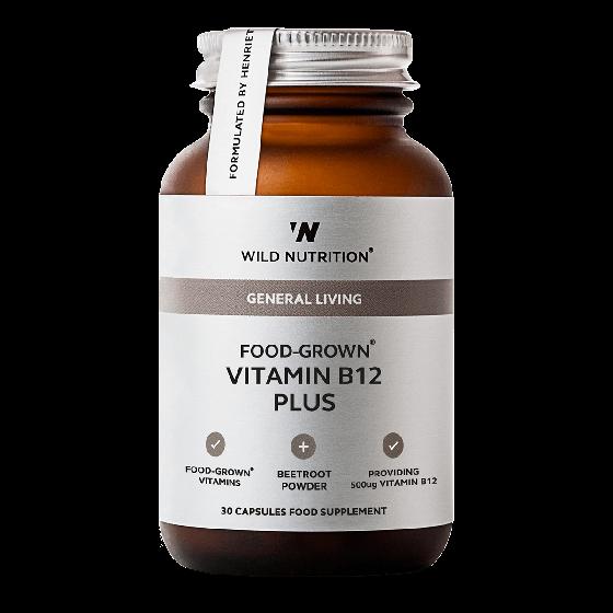 Wild Nutrition Food-Grown® Vitamin B12 Plus (30 Capsules)