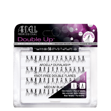 Ardell DuraLash Double Up Knot-Free Double Flares Medium Black