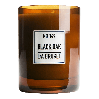 L:A BRUKET Black Oak Scented Candle 260g