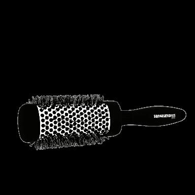 Denman Squargonomics Barrel Brush Black 43mm