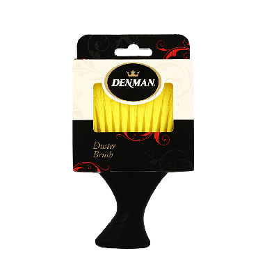 Denman Neck Duster Brush with Yellow Bristles