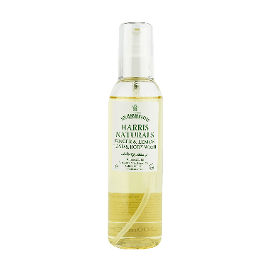 D R Harris Naturals Ginger & Lemon Hand & Body Wash 200ml