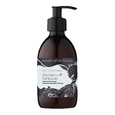 Elemental Herbology Mandarin & Geranium Hand & Body Cream 300ml