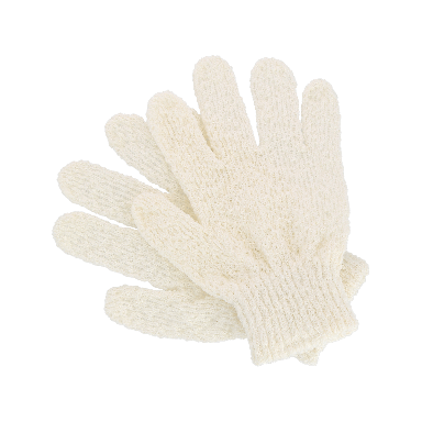 Hydrea Natural Cotton Exfoliating Gloves