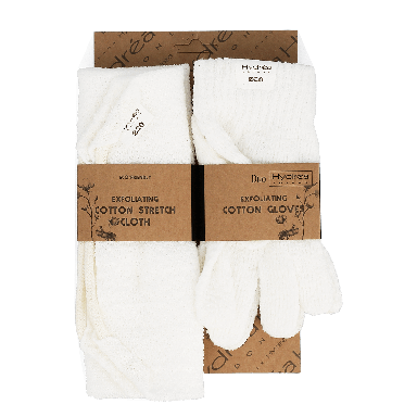 Hydrea Luxury Stretch Cloth & Shower Gloves Set