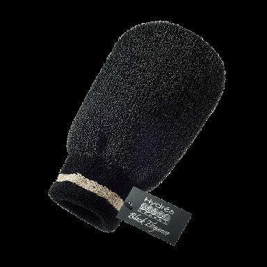 Hydrea Black Elegance Exfoliating Spa Mitt Black