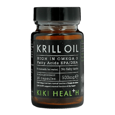 KIKI HEALTH Krill Oil Food Supplement (30 Capsules) 500mg