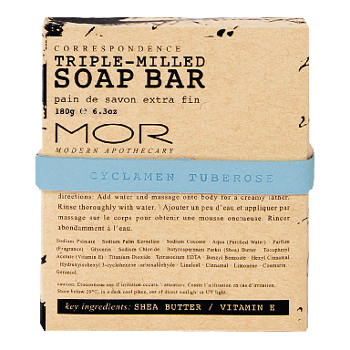 MOR Correspondence Cyclamen Tuberose Triple-Milled Soap Bar 180g