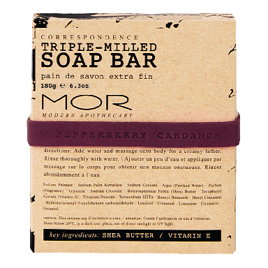 MOR Correspondence Pepperberry Cardamom Soap Bar 150g
