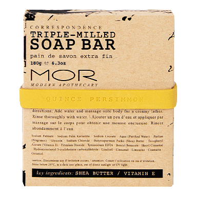 MOR Correspondence Quince Persimmon Soap Bar 150g