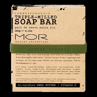 MOR Correspondence Sencha Verbena Soap Bar 150g
