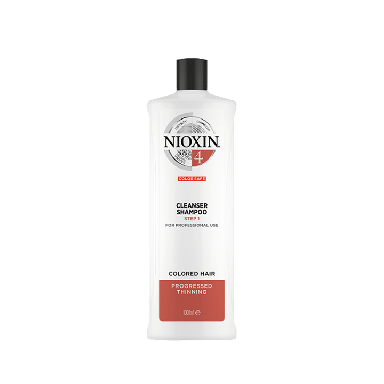 Nioxin System 4 Cleanser Shampoo for Colored Hair with Progressed Thinning 1000ml