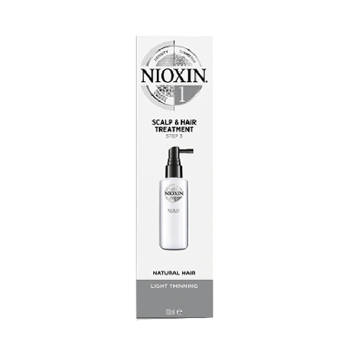 Nioxin System 1 Scalp & Hair Treatment for Natural Hair with Light Thinning 100ml
