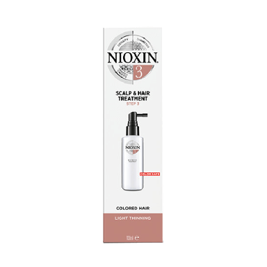 Nioxin System 3 Scalp & Hair Treatment for Colored Hair with Light Thinning 100ml