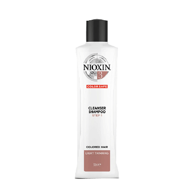 Nioxin System 3 Cleanser Shampoo for Colored Hair with Light Thinning 300 ml