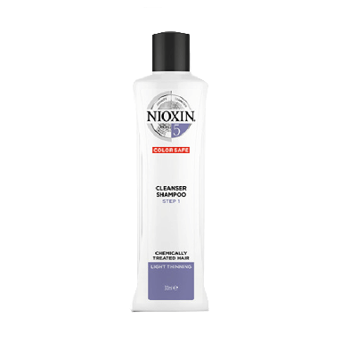 Nioxin System 5 Cleanser Shampoo Step 1 for Chemically Treated Hair with Light Thinning 300ml