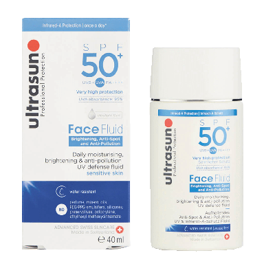Ultrasun Face Brightening, Anti-Spot & Anti-pollution Fluid SPF50+ 40ml