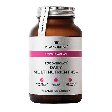 Wild Nutrition Women's Food-Grown® Daily Multi Nutrient 45+ (60 Capsules)