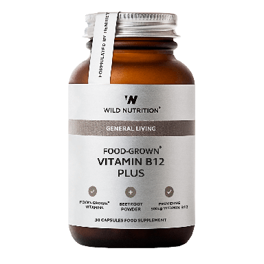 Wild Nutrition Food-Grown® Vitamin B12 Plus (30 Capsules)