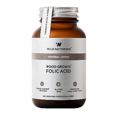 Wild Nutrition Food-Grown® Folic Acid (30 Capsules)