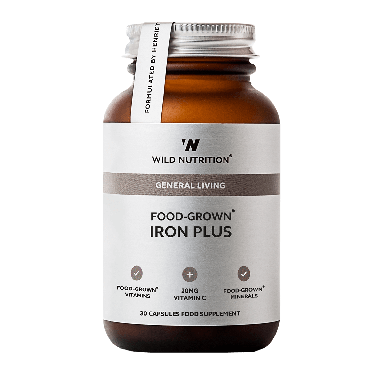 Wild Nutrition Food-Grown® Iron Plus (30 Capsules)