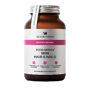 Wild Nutrition Women's Food-Grown® Skin Hair & Nails (60 Capsules)