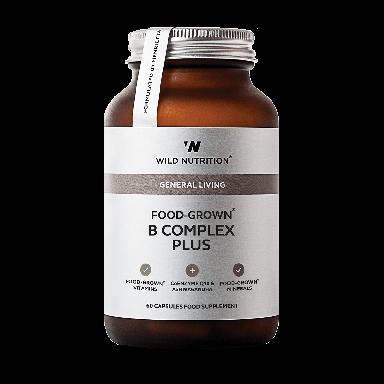 Wild Nutrition Food-Grown® B Complex Plus (60 Capsules)