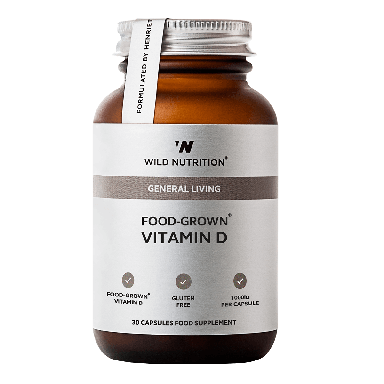 Wild Nutrition Food-Grown® Vitamin D (30 Capsules)