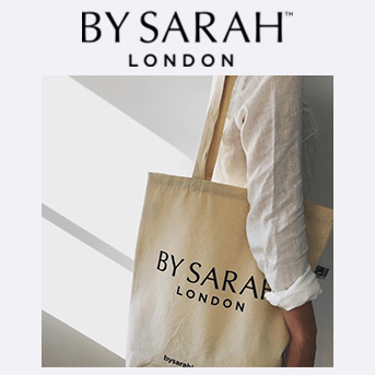 buy any product and receive a free BY SARAH LONDON tote bag