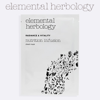 Buy any two Elemental Herbology products and get a free Elemental Herbology nutrition infusion sheet mask.