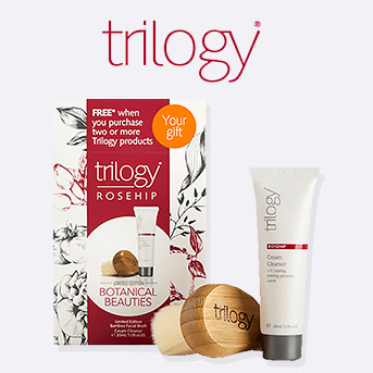 buy two or more trilogy products and receive a free botanical beauties set